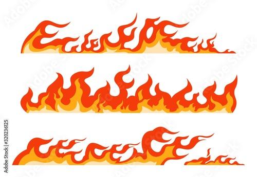 Fotomural Orange flame