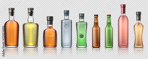 Photo Realistic alcohol bottles