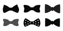Bow Tie Vector Set Isolated On White Background