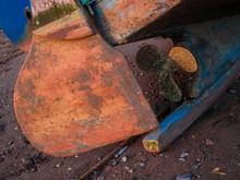 Abandoned Boat At Beach