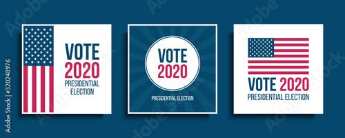 Fotografie, Obraz Vote USA 2020 Presidential Election cards set