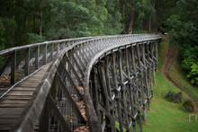 View Of Old Trestle Bridge