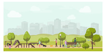 Dog Playground In City Park Fl...