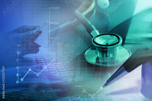 Obraz Medical marketing and Healthcare business analysis report - fototapety do salonu