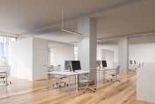 Modern Open Space Office Corner