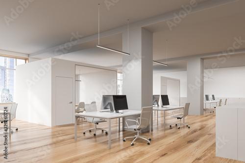 Fototapeta Modern open space office corner obraz