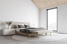 White Attic Master Bedroom Cor...