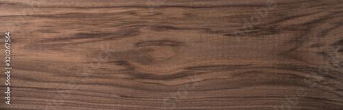 Fototapeta Texture of sanded raw black walnut wood without finish obraz