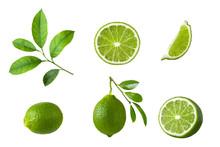 Set Of Lime Fruit, Green Lime ...