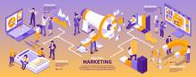 Isometric Marketing Strategy Infographics