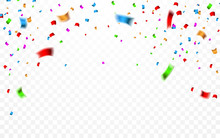 Colorful Confetti. Celebration...
