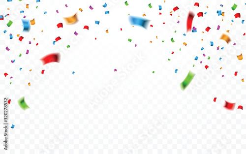 Colorful confetti Obraz na płótnie