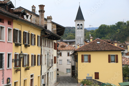 Photo Belluno old town in Italy