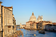 Santa Maria Della Salute By Grand Canal In City
