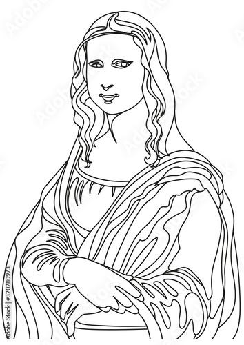 Leonardo da Vinci painting Fototapeta