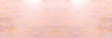 Background Of Pink And Gold Wo...