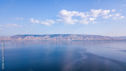 Canvas-taulu Sea of Galilee in Tiberias, Israel Kinnereth Lake.