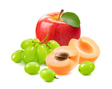 Red Apple With Green Leaf, Gra...