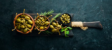Capers. Marinated Capers In A ...