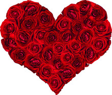 Heart Filled With Red Roses Ve...