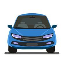 Car Vector Template On Gray Ba...