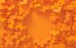 Leinwanddruck Bild - Abstract geometric modern orange background.