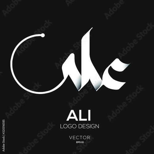 Creative Arabic Text Mean in English (ALi) . Canvas Print