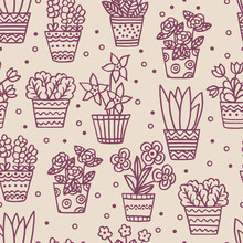 Seamless Pattern With Hand-dra...
