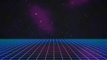Retro Lines And Grid In Space,...
