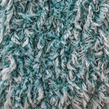 Turquoise White Shaggy Faux Lo...