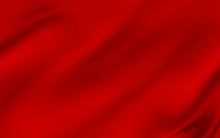 Background With 3D Illustration Luxury Red Silk Velvet Curtains.
