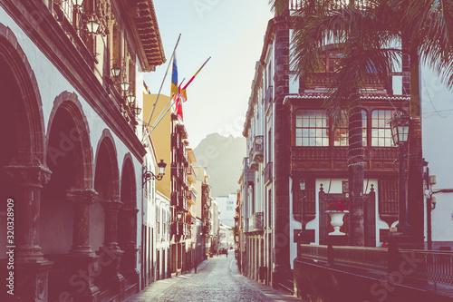 Santa Cruz, capital city of the island La Palma Canvas Print