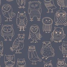 Vector Seamless Pattern Of Lin...