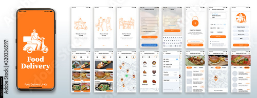 Photo Mobile app design, UI, UX, GUI Mockups Set