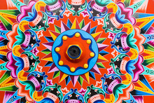 Painted Wooden Wheel Of A Trad...