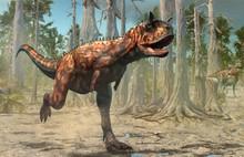 Carnotaurus Scene From The Cretaceous Era 3D Illustration