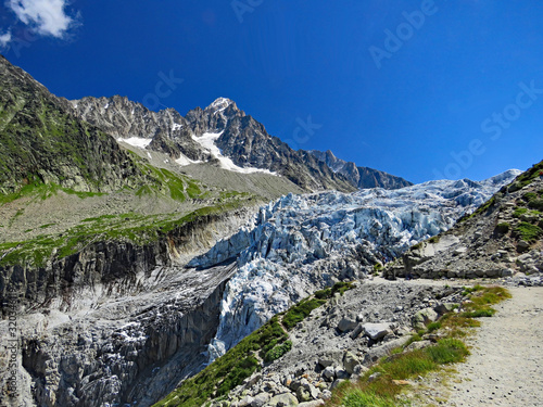 Fotografie, Obraz Massif du Mont-Blanc, le glacier d'Argentière