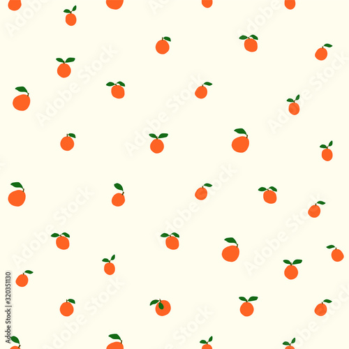 oranges cute pattern,orange seamless design,nordic simple aesthetic,summer fruit,vector Fotomurales