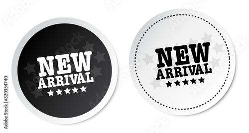 Photo New Arrival Stickers