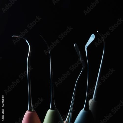dental modeling instruments restoration Canvas Print