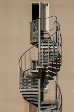 Spiral Metal Staircase Ouside ...