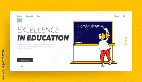 Education and Getting Knowledge at Home Website Landing Page Tapéta, Fotótapéta