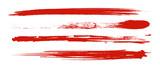 Fototapeta Abstract - アナログタッチ素材:筆の質感 墨 インク 筆模様 波模様