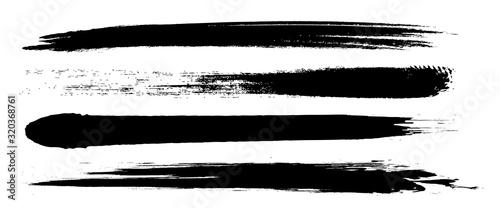 Fotomural アナログタッチ素材:筆の質感 墨 インク 筆模様 波模様