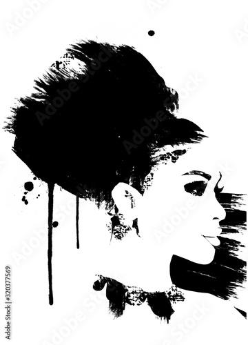 mody-ilustracja-czarny-i-bialy-mody-nakreslenie-abstrakcjonistyczny-obraz-kobieta