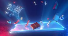 Concept Of E-commerce Sales, O...
