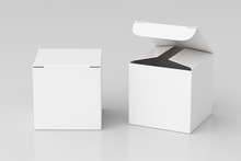 Blank White Cube Gift Box With...