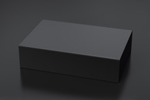 Blank Black Wide Flat Box With...