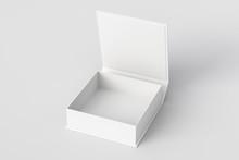 Blank White Flat Square Gift B...