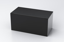 Blank Black Wide Box With Clos...